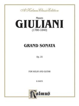 Grand Sonata, Opus 25 (For Violin and Guitar) (AL-00-K04675)