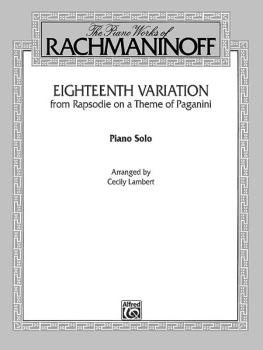 Eighteenth Variation <I>(Rhapsodie on a Theme of Paganini)</I> (AL-00-F02064)