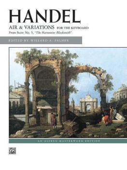 "Air and Variations (""Harmonious Blacksmith"") (AL-00-570)"