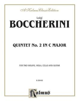 Quintet No. 2 in C Major (For Two Violins, Viola, Cello, and Guitar) (AL-00-K09449)