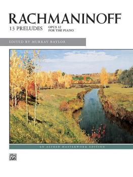 13 Preludes, Opus 32 (AL-00-655)