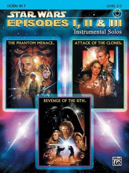 <I>Star Wars</I>®: Episodes I, II & III Instrumental Solos (AL-00-IFM0524CD)