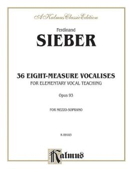 36 Eight-Measure Vocalises for Elementary Teaching, Opus 93 (For Mezzo (AL-00-K09183)