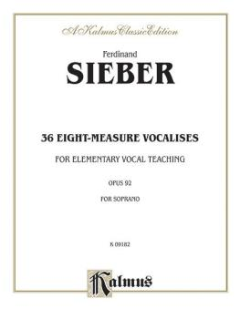 36 Eight-Measure Vocalises for Elementary Teaching, Opus 92 (For Sopra (AL-00-K09182)