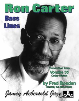 Ron Carter Bass Lines (Transcribed from <i>Volume 35 Cedar Walton</i>) (AL-24-RC3)