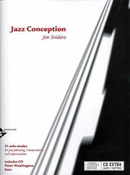 Jazz Conception: Bass: 21 Solo Etudes for Jazz Phrasing, Interpretatio (AL-01-ADV14728)