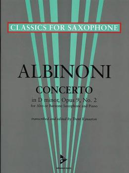 Concerto D Minor Opus 9, No. 2 (For Alto or Baritone Saxophone and Pia (AL-01-ADV7042)