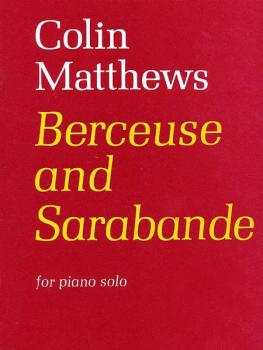 Berceuse and Sarabande (AL-12-0571506135)
