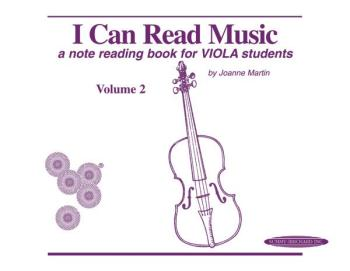 I Can Read Music, Volume 2: A note reading book for VIOLA students (AL-00-0428)