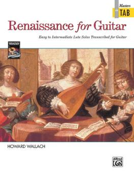 Renaissance for Guitar: Masters in TAB: Easy to Intermediate Lute Solo (AL-00-14950)