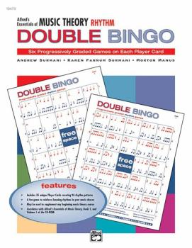 Alfred's Essentials of Music Theory: Double Bingo Game -- Rhythm (AL-00-19479)