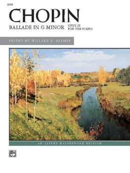 Ballade in G Minor (AL-00-22556)