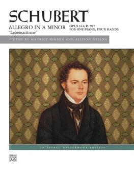 "Allegro in A Minor, Opus 144 (""Lebensstürme"") (AL-00-38869)"