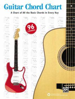 Guitar Chord Chart: A Chart of All the Basic Chords in Every Key (AL-00-44023)