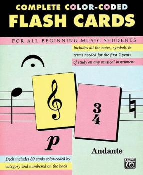 Complete Color-Coded Flash Cards (For All Beginning Music Students) (AL-00-12061)