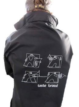 Taste Brass! Raincoat: Black (Medium) (AL-01-ADV96004)