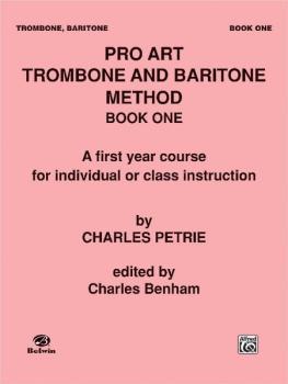 Pro Art Trombone and Baritone Method (AL-00-PROBK00500)