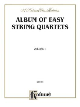 Album of Easy String Quartets, Volume II (Pieces by Bach, Haydn, Mozar (AL-00-K03426)