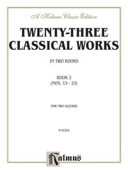 Twenty-Three Classical Works for Two Guitars, Book 2 (AL-00-K02252)
