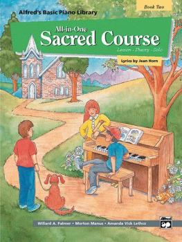 Alfred's Basic All-in-One Sacred Course, Book 2 (Lesson * Theory * Sol (AL-00-14559)