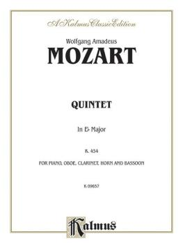 Quintet in E-flat, K. 452 (For Piano, Oboe, Clarinet, Horn and Bassoon (AL-00-K09657)