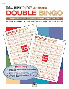 Alfred's Essentials of Music Theory: Double Bingo Game -- Note Naming (AL-00-19481)