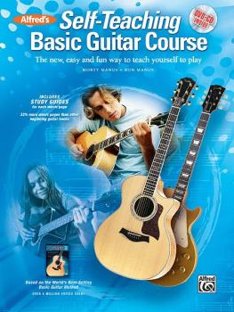 Alfred's Self-Teaching Basic Guitar Course: The New, Easy and Fun Way  (AL-00-37526)
