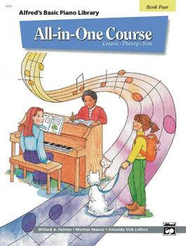 Alfred's Basic All-in-One Course, Book 4 (Lesson * Theory * Solo) (AL-00-14512)