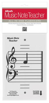 Alfred's Music Note Teacher: All-In-One Flashcard (White): Teaches Rap (AL-99-MNT001)