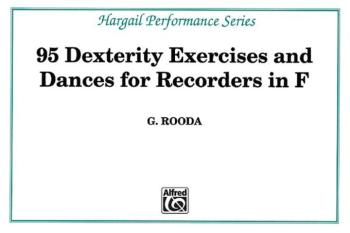 Finger Dexterity Exercises for Recorders in F (AL-00-HRW4)