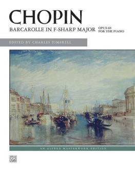 Barcarolle in F-sharp Major, Opus 60 (AL-00-29109)