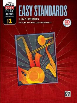 Alfred Jazz Easy Play-Along Series, Vol. 1: Easy Standards (9 Jazz Fav (AL-00-36081)