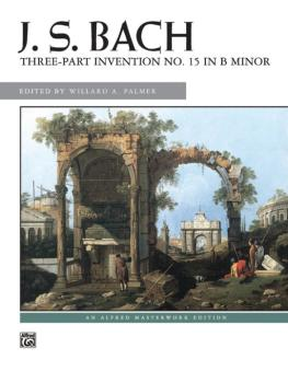 3-Part Invention No. 15 in B Minor (AL-00-3595)