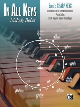 In All Keys, Book 1: Sharp Keys: Intermediate to Late Intermediate Pia (AL-00-44144)