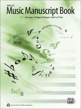 Alfred's Music Manuscript Book, 12-Stave (AL-00-33884)