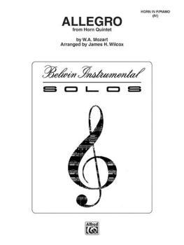 Allegro from Mozart's Horn Quintet (AL-00-BWI00102)