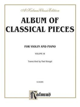 Album of Classical Pieces, Volume III (AL-00-K04305)