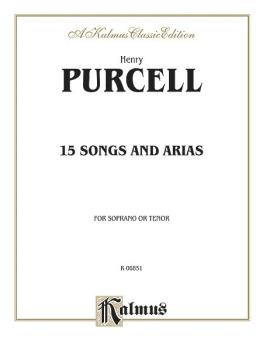 Fifteen Songs and Arias (For Soprano or Tenor with English Text Vocal  (AL-00-K06851)