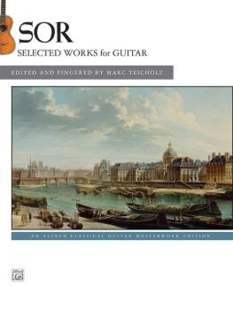 Sor: Selected Works for Guitar (AL-00-43633)