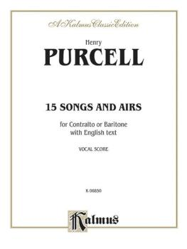 Fifteen Songs and Arias (For Contralto or Baritone with English Text V (AL-00-K06850)
