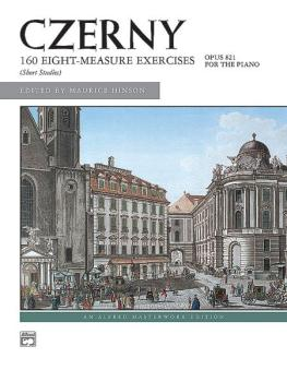 160 8-Measure Exercises, Opus 821 (AL-00-4832)