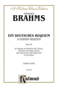 A German Requiem (Ein Deutsches Requiem), Opus 45 (AL-00-K06110)