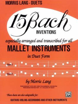 15 Bach Inventions (For All Mallet Instruments) (AL-00-HAB00044)