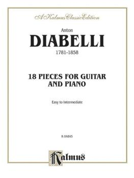 18 Pieces for Guitar and Piano (Easy to Intermediate) (AL-00-K04845)
