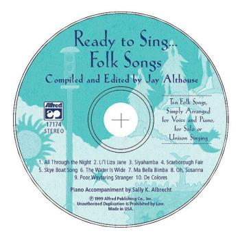 Ready to Sing . . . Folk Songs: Ten Folk Songs, Simply Arranged for Vo (AL-00-17174)