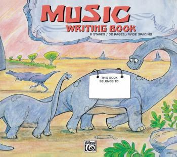 Alfred's Basic Music Writing Book (Wide Lines, 32 pages) (AL-00-6700)
