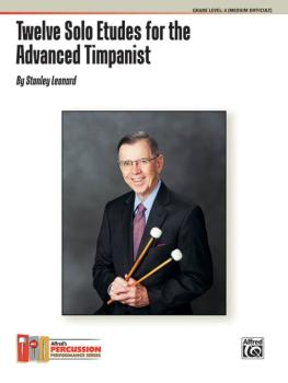 Twelve Solo Etudes for the Advanced Timpanist (AL-00-44695)