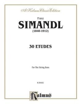 Thirty Etudes for String Bass (AL-00-K04451)