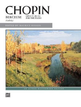 Berceuse, Opus 57 (AL-00-3579)