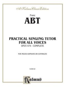 Practical Singing Tutor, Opus 474 (Complete) (For Mezzo-Soprano or Con (AL-00-K09142)